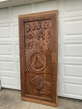 Solid Carved Wood Door, Mahogany Wood Door, Craftman Style Africa Made, Brown.