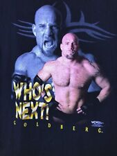 NWOT Vtg 1998 WCW Goldberg Wrestling T Shirt Mens Who's Next! Black WWE NEW