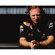 Signed photograph - Christian Horner, Signed by Christian with black marker