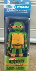 Funko Playmobil TMNT Michelangelo Collectible Action Figure Sealed New