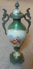 "Rare Antique 19TH Century French Urn Porcelain Bronze 10"" Tall Lovers Excellent!"