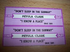 """2 Petula Clark Don't Sleep In The Subway Jukebox Title Strip CD 7"""" 45RPM Records"""
