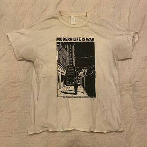 Modern Life Is War Shirt Large - Comeback Kid Bane Carry On Have Heart Converge
