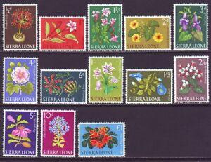 Sierra Leone 1963 SC 227-239 Set MH Flower