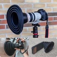 Reflection-free Collapsible Silicone Photography Lens Hood for Camera Phone US