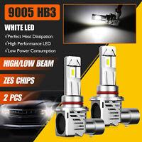 2x 9005 HB3 ZES LED Headlight Kit High/ Low Beam Bulb Super Bright 6500K 24000LM