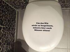 Aufkleber WC Deckel, Toiletten Tattoo, Klo Sticker, Bad,