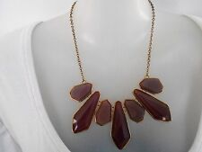 Purple and Gold Statement Necklace - Diva