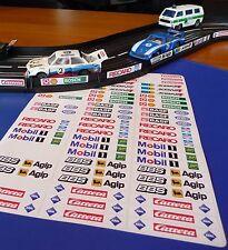 Slotcar Aufkleber 72er SET für Carrera Servo 132 140 SCHIENEN DEKO 77123