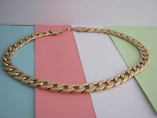 MENS HEAVY CURB CHAIN GOLD COLOUR MIXED METAL & ALLOY SIZE 20 inch
