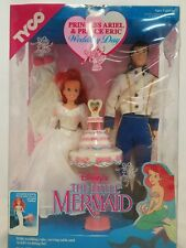 The Little Mermaid Princess Ariel And Prince Eric Wedding Day 1991 Tyco - NIB