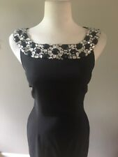 Womens CONNECTED Black Formal Cocktail Prom Dress With Beads.  Lined. Size 6