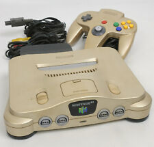 "Nintendo 64 GOLD Console System NUJ13802516 ""NTSC J"" Tested wz expansion pak"