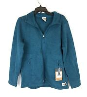 The North Face Women's Crescent Full Zip Blue Jacket, Size Large