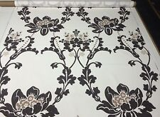 "DESIGNERS GUILD ESPERANZA EBONY FLORAL DAMASK EXCLUSIVE FABRIC 4.1 YARDS 54""W"