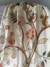 Custom (2) Pinch Pleat Lined Heavy Drapes Jacobean 70's Animals Floral Curtains