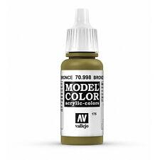 Vallejo Model Color: Bronze - VAL70998 Acrylic Paint Bottle 17ml 175
