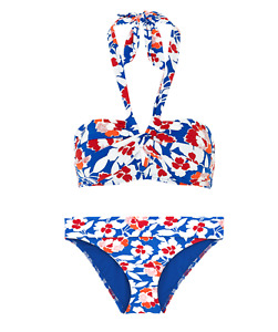 Ex Marks and Spencer Blue Floral Bikini Set / top AND brief New various sizes