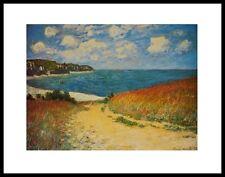 Claude Monet Strand in Pourville Poster Kunstdruck Bild mit Alu Rahmen 24x30cm