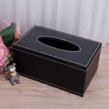 PU Leather Tissue Box Cover Home Table Car Napkin Case Holder Storage Organizer