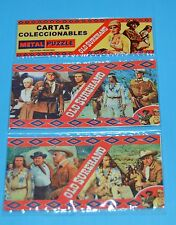 OLD SUREHAND Karl May Winnetou Pierre Brice DOBLE METAL CARD PUZZLE ARGENTINA 3