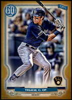 Christian Yelich 2020 Topps Gypsy Queen 5x7 Gold #25 /10 Brewers