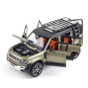 1:24 Land Rover Defender 110 Diecast Model Car Toy Collection Light&Sound Kids