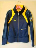 Adidas LA Galaxy Beckham 23 Blue Yellow Women Jacket Soccer Size medium