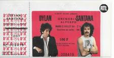 RARE / TICKET CONCERT - BOB DYLAN + CARLOS SANTANA : LIVE A GRENOBLE FRANCE 1984