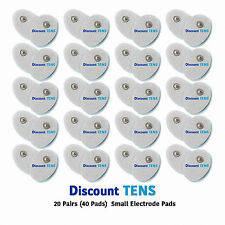 TENS Small Snap On Electrode Pads, 20 Pairs (40 Pads)