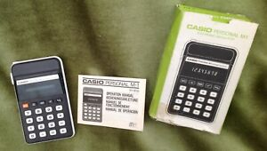 Vintage 1979 Casio Personal M-1 Calculator with box and instructions