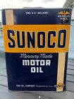 "Vintage ""Mercury Made"" SUNOCO Motor Oil 2-Gallon Can (A)"