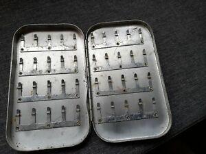 Vintage Vintage Richard Wheatley Silver alloy Fly Box.  6'x4'