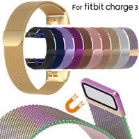bande de remplacement watch l'acier inoxydable bracelet For Fitbit Charge 3