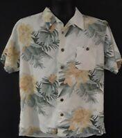Vintage Joe Marlin Mens M S/S Hawaiian Shirt Button Up Palm Trees Floral