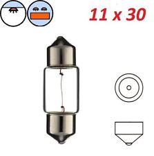 BOMBILLA 12V 8W SV8.5 11x30 COCHE LAMPARA INTERIORES SALPICADERO TECHO MALETERO