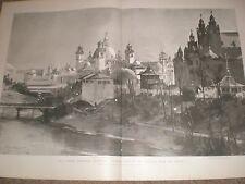 Glasgow ESPOSIZIONE INDUSTRIALE edifici dalla KELVIN 1901 stampa ref AY