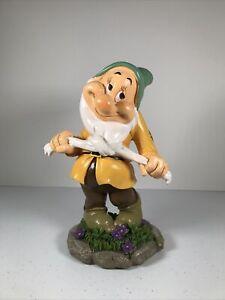 Disney Seven Dwarfs Garden Statue Gnome Home Decor Figure Bashful