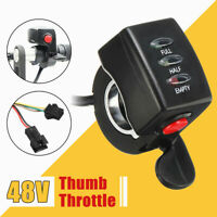 30mm Thumb Throttle Brake Lever LED Cruise Control For E-bike Electric Scooter