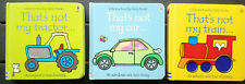3 x  That's Not My...car, ...tractor, ...train - Usborne Touchy Feely Books