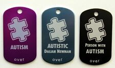 Autism Autistic Aspergers Alert Tag - Free Custom Engraving Personalization