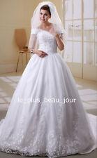SUR MESURE ! Magnifique robe de Mariée à longue traîne, nouvelle collection M363
