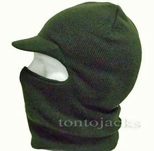 Peaked Olive Green Balaclava Fishing Hunting Shooting Paintball Winter Ski Hat