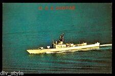 USS Glover AGDE-1 postcard  US Navy modified ocean escort