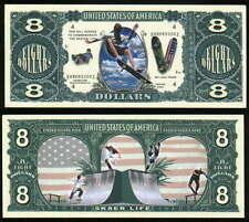 SKATEBOARDING, SKATER EIGHT DOLLAR - Lot of 10 Bills