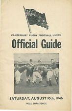 Old boys technique, la formation College 10 août 1946 Canterbury NZ rugby programme