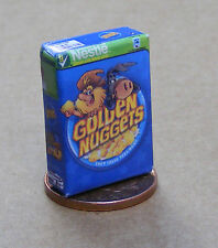 1:12 Scale Empty Golden Nuggets Cereal Packet Tumdee Dolls House Food Accessory
