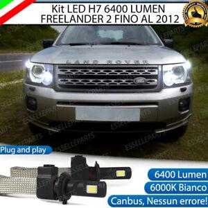 KIT LED H7 LAND ROVER FREELANDER 2 6000K 6400 LUMEN ABBAGLIANTI FINO AL 2012