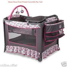 Disney Baby Bassinet Convertible Safety Minnie Mouse Newborn Pack and Play Yard