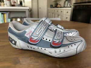 Sidi Women's Silver Cycling Shoes Breast Cancer Awareness Road Biking Size 41
